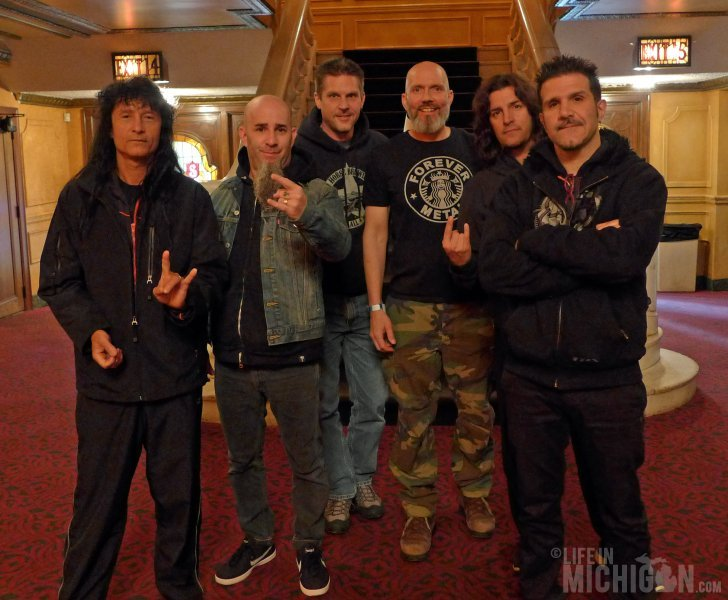 Jeff and I with Anthrax