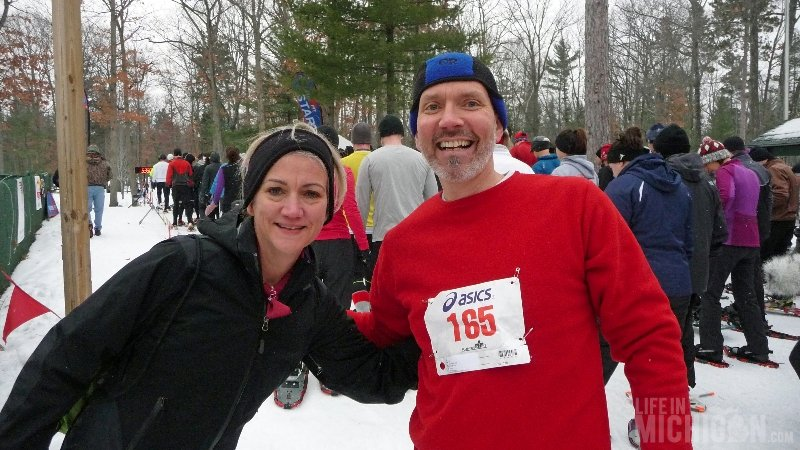 Bigfoot Boogie Snowshoe Race - Brenda Sodt Foster and Chuck Marshall