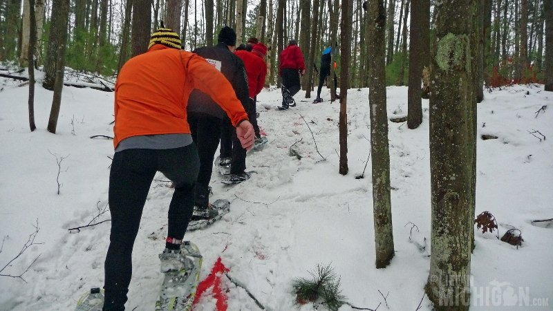 Bigfoot Boogie Snowshoe Race - Charging the Hill