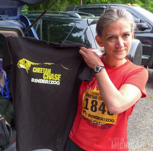 Brenda with her Cheetah Chase shirt