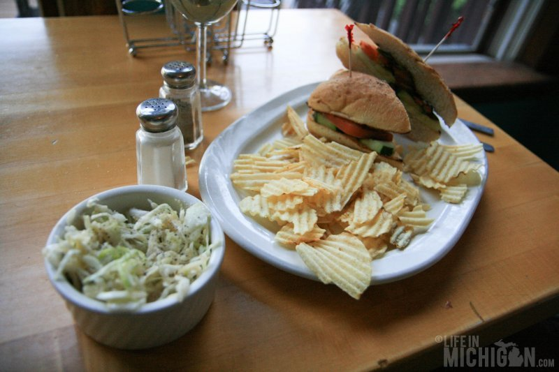Dimitri - vegan sandwich with Asian slaw at Cafe Ollie