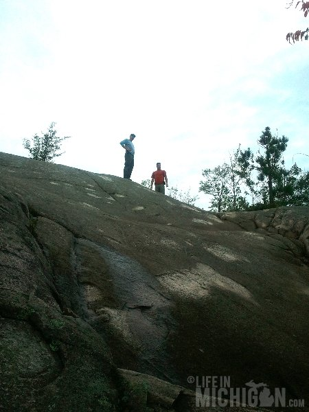 Hogback Mountain Hike rock scramble