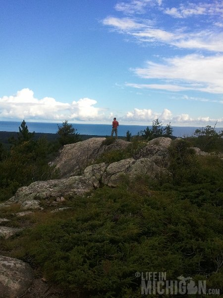 Hogback Mountain Hike view of Lake Superior