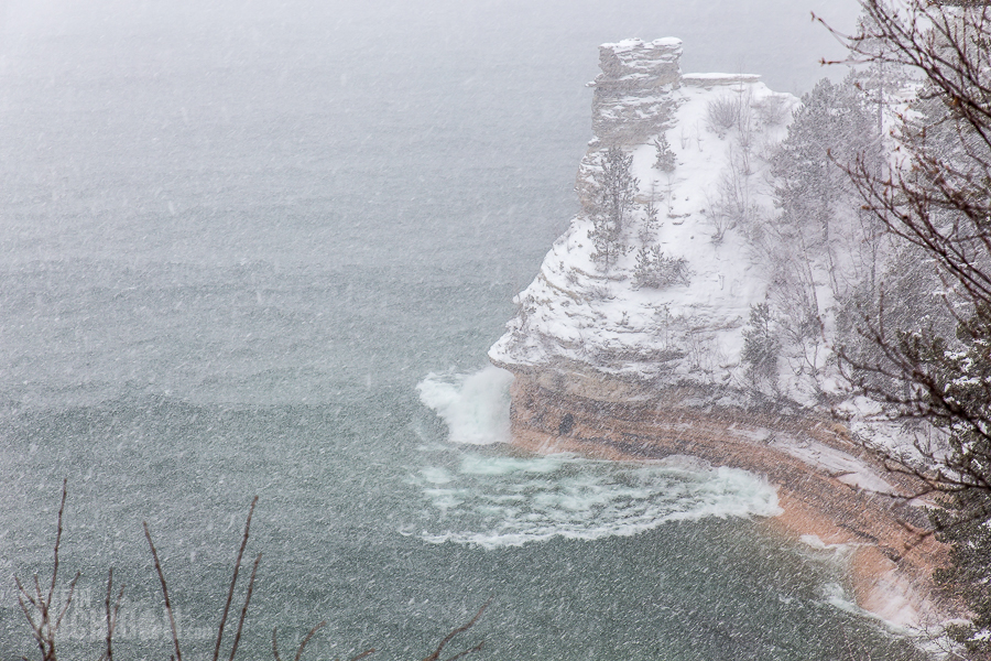 Pictured Rocks Snowshoe - U.P. Winter - 2014 - 15