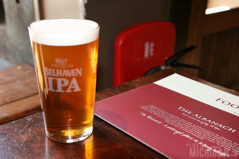 Bellhaven IPA at the Albanach in Edinburgh Scotland