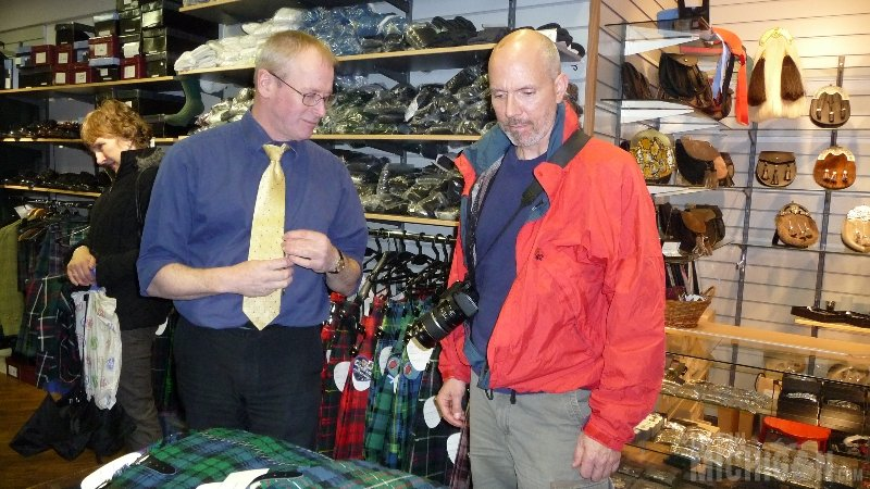 Buying Kilt Edinburgh Scotland
