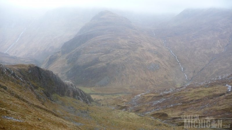 A long way up on our journey up Cnoc Reamhar