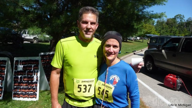 Jeff and Brenda after 25k of joy ! :)
