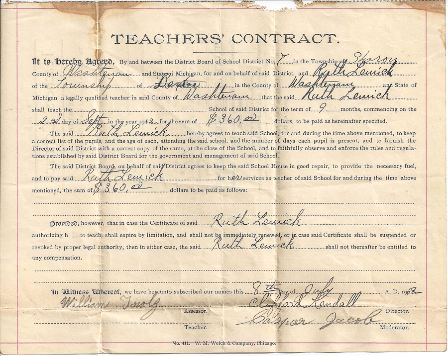 No 7, SHARON (Craft)1912-13 Contract