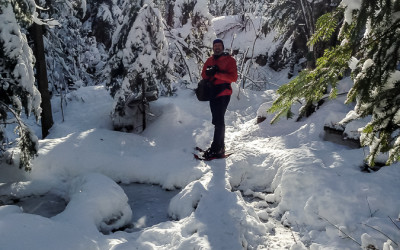 Snowshoeing in the Michigan's Upper Peninsula