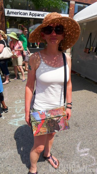 Brenda with her new Santana Abraxas bag