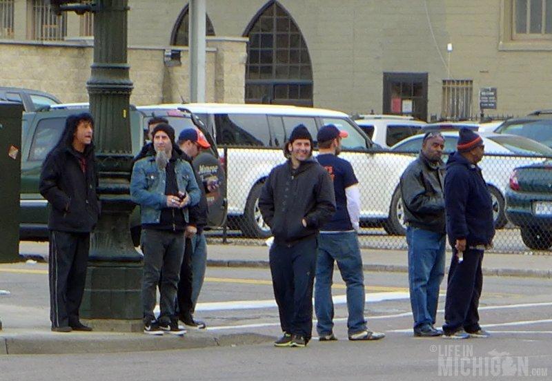 Anthrax strolling around downtown Detroit