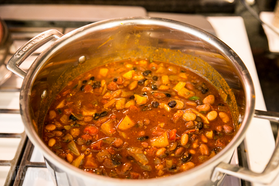 Mix it all together- Final Chili - 2014