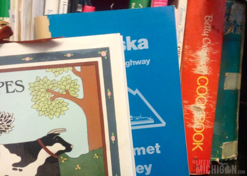 Book Shelf with Betty's cookbooks