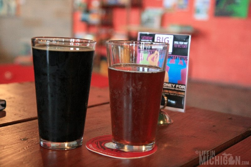 Looping Owl and Naught Girl Stout