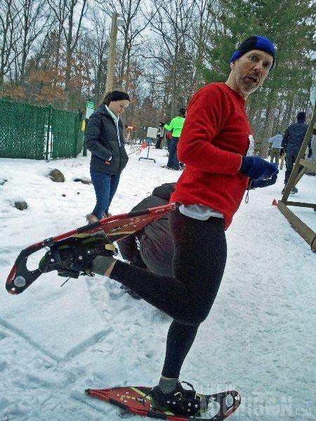 Chuck Marshall -- Bigfoot Boogie Snowshoe race in Traverse City, Mi 1-19-2013