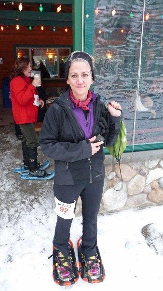 Bigfoot Boogie Snowshoe Race -- Brenda Sodt Foster prerace