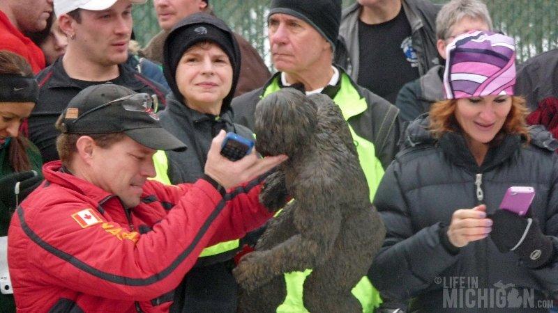 Bigfoot Boogie Snowshoe Race - The winner of the Men's 5K
