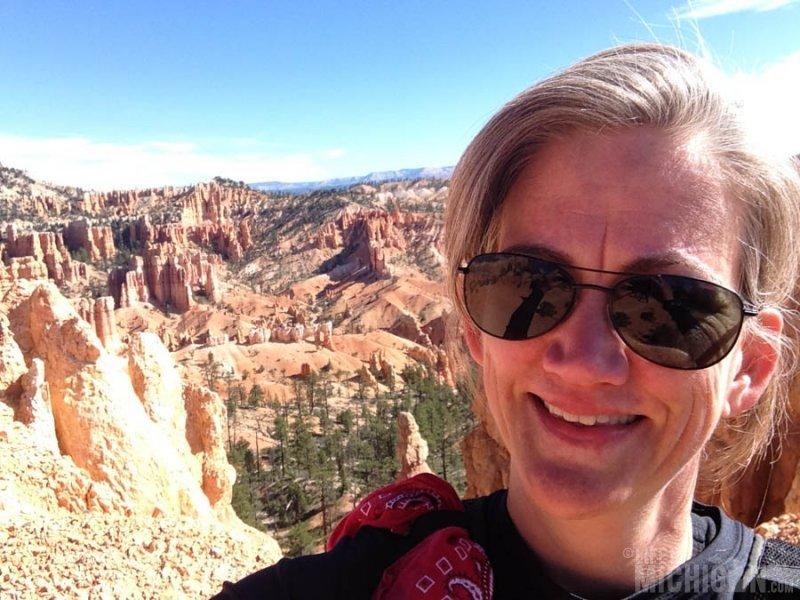Brenda selfie on the Fairyland trail