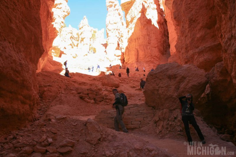 Heading up the tail end of Wall Street on the Navajo Trail