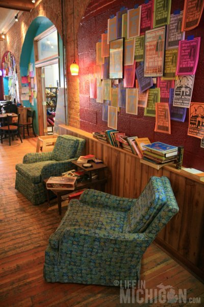The comfy chairs for chillin at Cafe Ollie