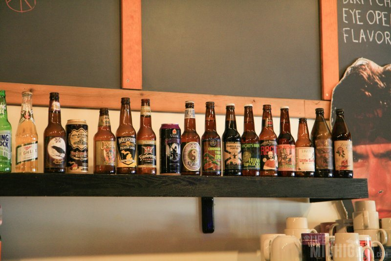 Nice selection of Michigan Beers at Cafe Ollie