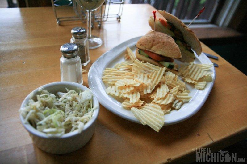 Dimitri - vegan sandwich with Asian slaw at Cafe Ollie
