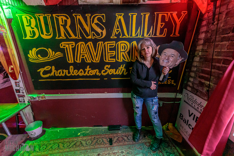 Burns Alley with Bill Murray in Charleston