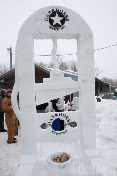 Guillotine Snow Sculpture