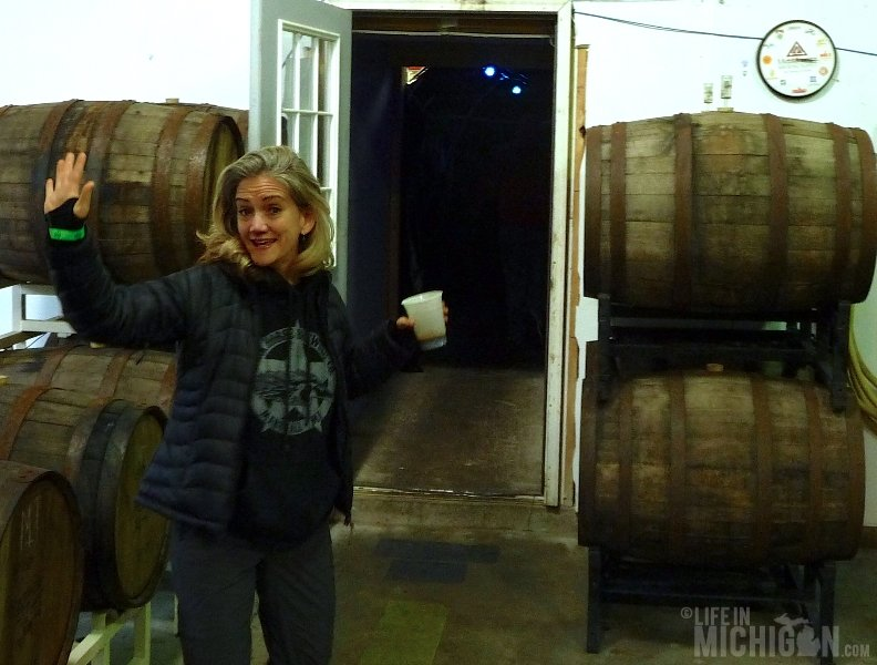 Brenda entering the tunnel to the Party