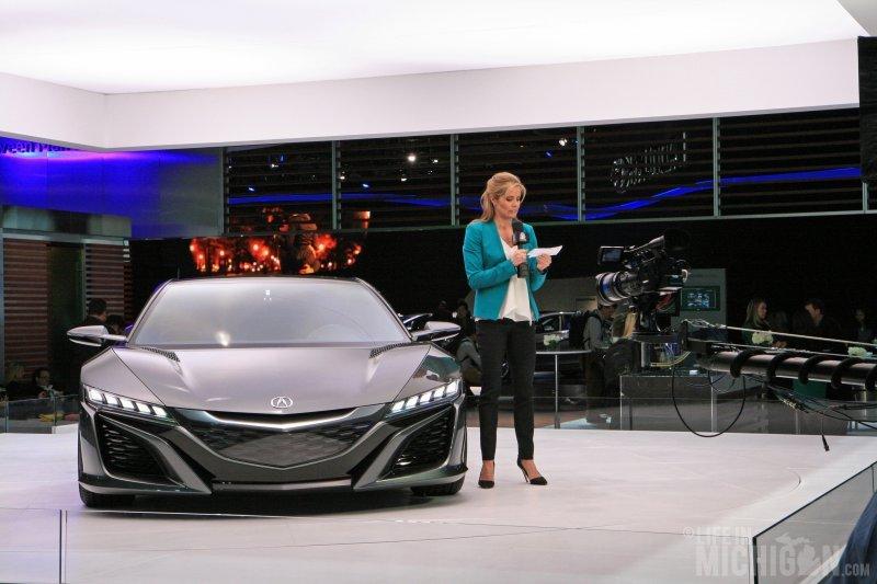 NBC news person unhappy at auto show