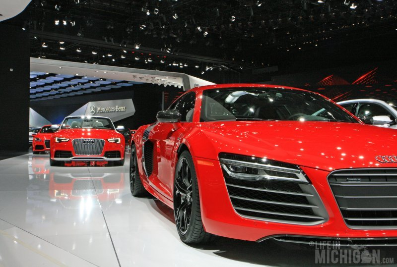 Red Audi's in a row