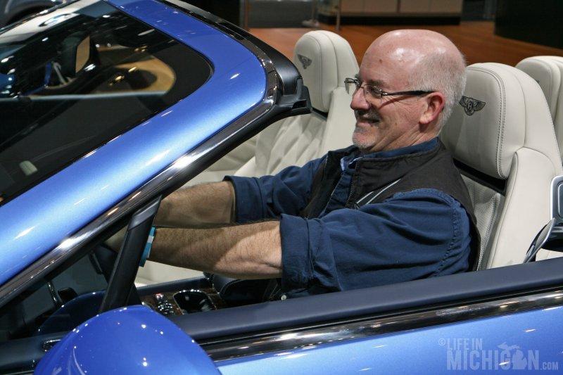 Rick in the Bentley Speed Convertible