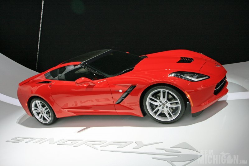 Corvette Stingray on the wall