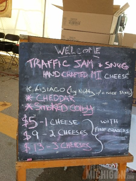 Traffic Jam and Snug menu