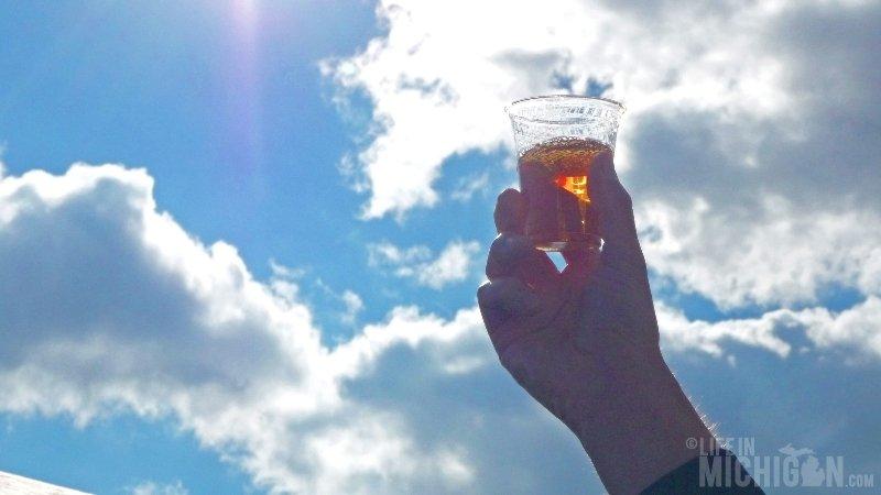 Beautiful beer in the sky