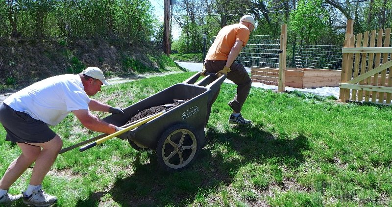 Moving the dirt to the garden bed