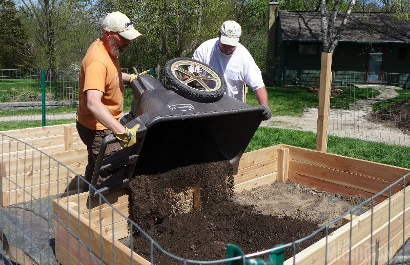 dumping the dirt