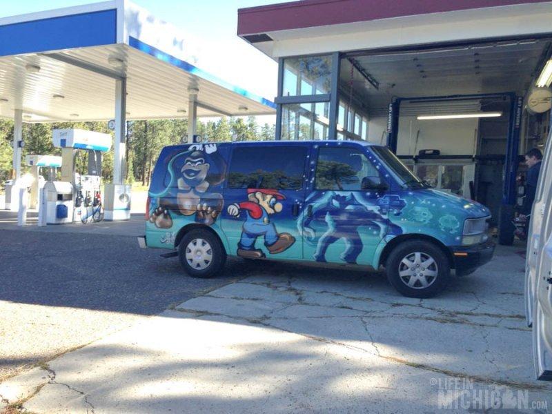 Crazy painted vans