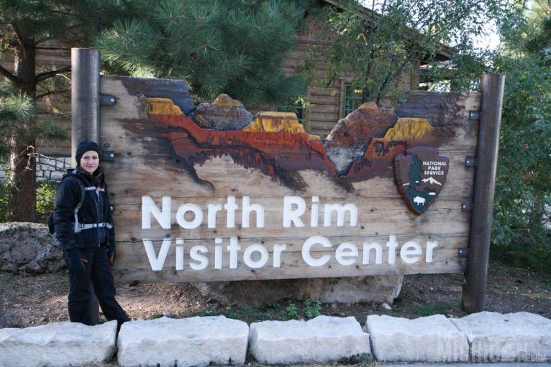 Checking out the North Rim Vistors center