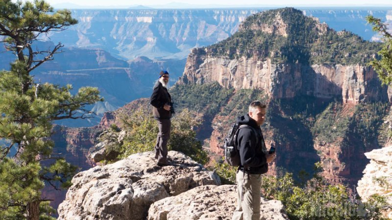 Checking out the view off the Transept trail North rim Grand Canyon