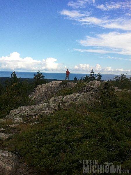Hogback Mountain Hike view of Lake Superior