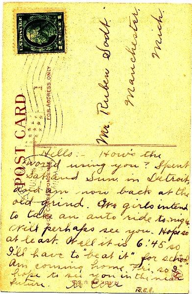 Ruth Lewick to Reuben Sodt 1914