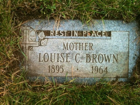 Louise Catherine Brown - Gravestone