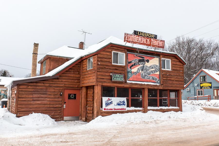 Lumberjack Tavern Big Bay - U.P. Winter - 2014 -1