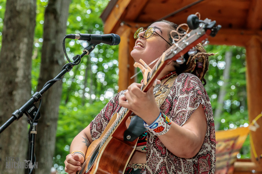 Nina and the Buffalo Riders at Michigan Legacy Art Park