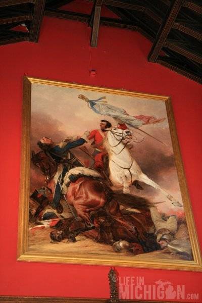 Battle of Waterloo painting in Great Hall - Edinburgh Castle