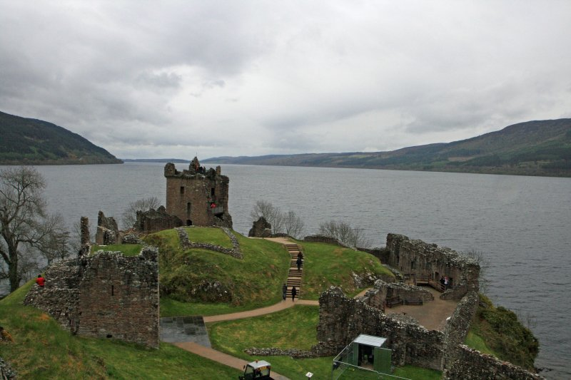 Urquhart Castle on a rainy day