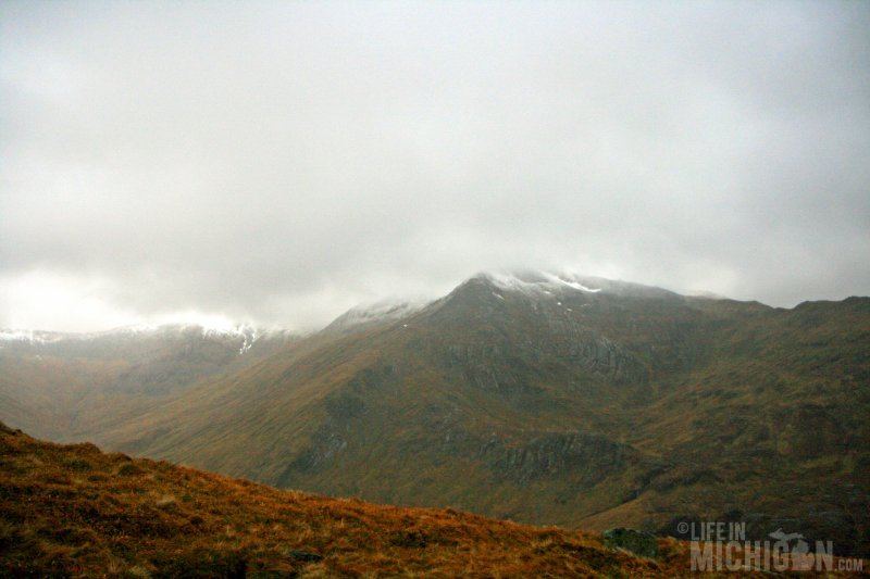 Looking over to Sron Coire nan Cnamh