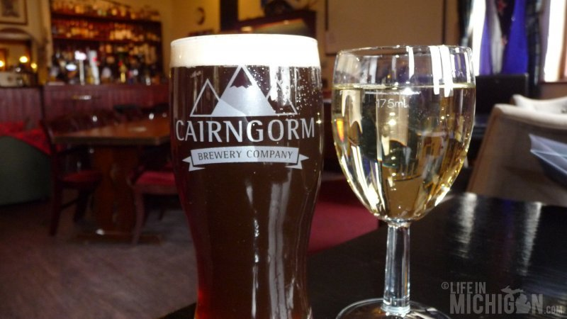 Cairngorm Red Stag and a nice dry Sauvignon Blanc